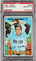 Baseball Cards:Singles (1960-1969), 1967 Topps Hank Fischer #342 PSA Gem Mint 10 - Pop Five....