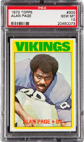 Football Cards:Singles (1970-Now), 1972 Topps Alan Page #300 PSA Gem Mint 10 - Pop Six. ...