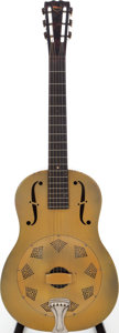 Musical Instruments:Resonator Guitars, 1930 National Triolian Yellow Resonator Guitar, Serial # A305.. ...