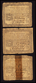 Colonial Notes:Pennsylvania, Pennsylvania April 3, 1772 2s 6d Fine-Very Fine Triplet.. ...(Total: 3 notes)