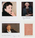 Paintings, ANDY WARHOL (American, 1928-1987) and. JAMIE (JAMES BROWNING) WYETH (American, b. 1946). Portraits of Each Other, Coe ...