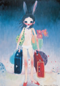Prints:Contemporary, AYA TAKANO (Japanese, b. 1976). Mail Mania Mami, Standing in aStorm, 2006. Lithograph. 24-1/4 x 17-1/8 inches (61.7 x 4...