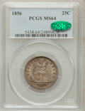 Seated Quarters, 1856 25C MS64 PCGS. CAC....