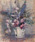 Fine Art - Painting, American:Modern  (1900 1949)  , EDMUND WILLIAM GREACEN (American, 1877-1949). Pink and BlueFlowers, 1925. Oil on canvas. 24-1/4 x 20-1/4 inches (61.6 x...