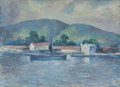 Fine Art - Painting, American:Modern  (1900 1949)  , EDMUND WILLIAM GREACEN (American, 1877-1949). Lake Scene,1941. Oil on canvas. 26 x 36 inches (66.0 x 91.4 cm). Signed l...