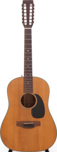 Musical Instruments:Acoustic Guitars, 1972 Martin D-12-20 Natural 12-String Acoustic Guitar, Serial # 298492....