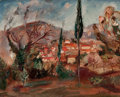 Fine Art - Painting, European:Modern  (1900 1949)  , ACHILLE EMILE OTHON FRIESZ (French, 1879-1949). Paysage,circa 1924. Oil on canvas. 25-1/2 x 31-3/4 inches (64.8 x 80.6 ...