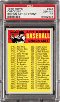 Baseball Cards:Singles (1970-Now), 1970 Topps Checklist 4th Series #343 PSA Gem Mint 10....