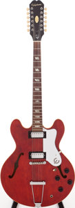 Musical Instruments:Electric Guitars, 1967 Epiphone Riviera Cherry 12-String Semi-Hollow Body ElectricGuitar, Serial #100883....