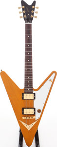 Musical Instruments:Electric Guitars, 2007 Gibson Reverse Flying V Natural Solid Body Electric Guitar,Serial # 021170332....