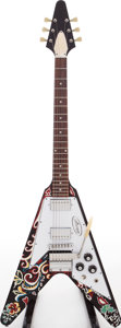Musical Instruments:Electric Guitars, 2006 Gibson Jimi Hendrix Flying V Psychedelic Solid Body ElectricGuitar, Serial # JIMI119....