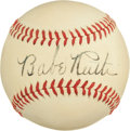 Autographs:Baseballs, Early 1940's Babe Ruth Single Signed Baseball....