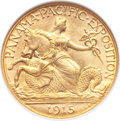 Commemorative Gold, 1915-S $2 1/2 Panama-Pacific Quarter Eagle MS65 NGC. CAC....