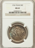 Commemorative Silver: , 1936 50C Texas MS65 NGC. NGC Census: (529/631). PCGS Population(858/735). Mintage: 8,911. Numismedia Wsl. Price for proble...