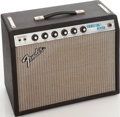 Musical Instruments:Amplifiers, PA, & Effects, 1976 Fender Princeton Reverb Black Guitar Amplifier, Serial #A35718....