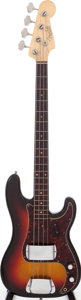 Musical Instruments:Bass Guitars, 1962 Fender Precision Bass Sunburst Electric Bass Guitar, Serial # 82290....