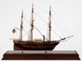 Maritime:Decorative Art, SCALE SHIP MODEL OF THE SIDE WHEEL STEAMER 'SAVANNAH'. AmericanMarine and Ship Model Gallery, Salem MA. An American hybrid ...