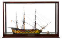 SHIP MODEL OF HMS 'VICTORY' Another fine representation of Admiral Horatio Lord Nelson's famous flagship from the