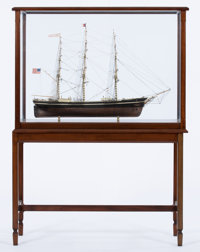 SHIP MODEL OF 'SOVEREIGN OF THE SEAS' American Marine and Ship Model Gallery, Salem MA A finely detailed and fu