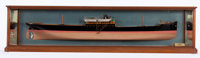 VINTAGE BUILDER'S HALF HULL MODEL OF THE FREIGHTER 'MOYLE' An extremely well-built and detailed model of the freig