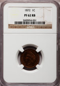Proof Indian Cents: , 1872 1C PR62 Red and Brown NGC. NGC Census: (6/250). PCGS Population (7/232). Mintage: 950. Numismedia Wsl. Price for probl...