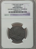 Colonials: , 1788 COPPER Vermont Copper, Bust Right -- Environmental Damage --NGC Details. Fine. NGC Census: (9/32). PCGS Population (1...