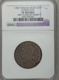 Colonials, 1787 COPPER Connecticut Copper, Mailed Bust Left -- ObversePlanchet Flaw -- NGC Details. VF. NGC Census: (7/35). PCGS Popu...