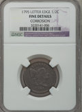 Half Cents: , 1795 1/2 C Lettered Edge -- Corrosion -- NGC Details. Fine. NGCCensus: (7/41). PCGS Population (17/86). Mintage: 139,690. ...