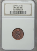 Lincoln Cents: , 1922-D 1C MS65 Red and Brown NGC. NGC Census: (74/2). PCGSPopulation (28/2). Mintage: 15,274,000. Numismedia Wsl. Price fo...