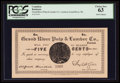 Canadian Currency: , Grand River, NL- Grand River Pulp & Lumber Co. 5¢ UNL. ...