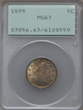 Liberty Nickels: , 1895 5C MS63 PCGS. PCGS Population (101/195). NGC Census: (82/177).Mintage: 9,979,884. Numismedia Wsl. Price for problem f...
