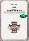Proof Three Cent Nickels: , 1889 3CN PR66 NGC. CAC. NGC Census: (224/49). PCGS Population(251/51). Mintage: 3,436. Numismedia Wsl. Price for problem f...