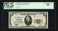 Fr. 1870-C* $20 1929 Federal Reserve Bank Note. PCGS Choice About New 58