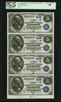 National Bank Notes:Tennessee, Jackson, TN - $5-$5-$5-$5 Uncut Sheet 1882 Date Back Fr. 534 The First NB Ch. # (S)2168. ...