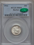 Barber Dimes: , 1916 10C MS65 PCGS. CAC. PCGS Population (112/45). NGC Census:(142/42). Mintage: 18,490,000. Numismedia Wsl. Price for pro...