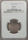 Seated Quarters: , 1876-S 25C MS62 NGC. NGC Census: (42/132). PCGS Population(45/155). Mintage: 8,596,000. Numismedia Wsl. Price for problem ...