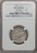 Seated Quarters: , 1856-O 25C -- Stained -- NGC Details. Unc. NGC Census: (1/18). PCGSPopulation (0/11). Mintage: 968,000. Numismedia Wsl. Pr...