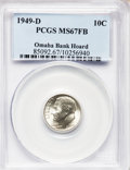 Roosevelt Dimes: , 1949-D 10C MS67 Full Bands PCGS. Ex: Omaha Bank Hoard. PCGSPopulation (75/3). NGC Census: (46/1). Mintage: 26,034,000. Num...