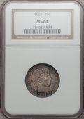 Barber Quarters: , 1901 25C MS64 NGC. NGC Census: (61/22). PCGS Population (45/38).Mintage: 8,892,813. Numismedia Wsl. Price for problem free...