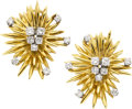 Estate Jewelry:Earrings, Diamond, Gold Earrings, Georg Jensen & Wendel A/S. ...