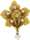 Estate Jewelry:Brooches - Pins, Diamond, Gold Brooch, M. Buccellati. ...