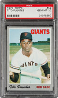 Baseball Cards:Singles (1970-Now), 1970 Topps Tito Fuentes #42 PSA Gem Mint 10....