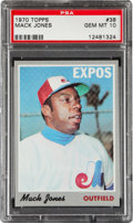Baseball Cards:Singles (1970-Now), 1970 Topps Mack Jones #38 PSA Gem Mint 10....