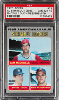 Baseball Cards:Singles (1970-Now), 1970 Topps AL Strikeout Leaders #72 PSA Gem Mint 10....