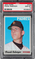 Baseball Cards:Singles (1970-Now), 1970 Topps Frank Reberger #103 PSA Gem Mint 10....