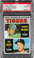 Baseball Cards:Singles (1970-Now), 1970 Topps Tigers Rookies #207 PSA Gem Mint 10....
