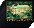 "Football Collectibles:Photos, 2003 Brett Favre Signed ""Historic Lambeau Field"" Oversized PrintsLot of 32...."