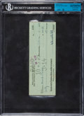Football Collectibles:Others, 1939 David O'Brien and Bert Bell Signed Check....