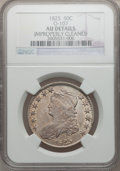 Bust Half Dollars: , 1825 50C -- Improperly Cleaned -- NGC. AU Details. O-107. NGCCensus: (59/708). PCGS Population (119/667). Mintage: 2,900,...
