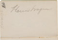 Autographs:Others, 1941 Baseball Autograph Notebooks (2) with Wagner, Frisch,Vaughan....